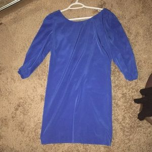 Blue long sleeve Shift Dress